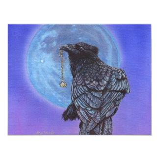 """Luna del cuervo invitación 4.25"""" x 5.5"""""""