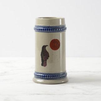 Luna del cuervo jarra de cerveza