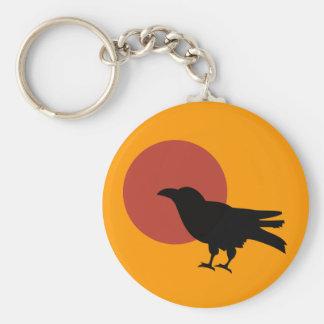 Luna del cuervo llavero personalizado