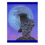 Luna del cuervo postal