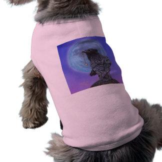 Luna del cuervo camisa de perro