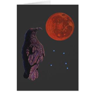 Luna del cuervo tarjeta de felicitación