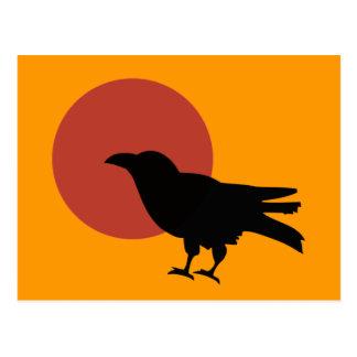 Luna del cuervo tarjeta postal