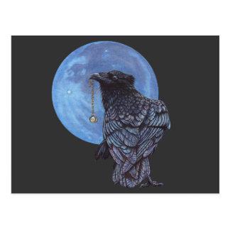 Luna del cuervo tarjetas postales