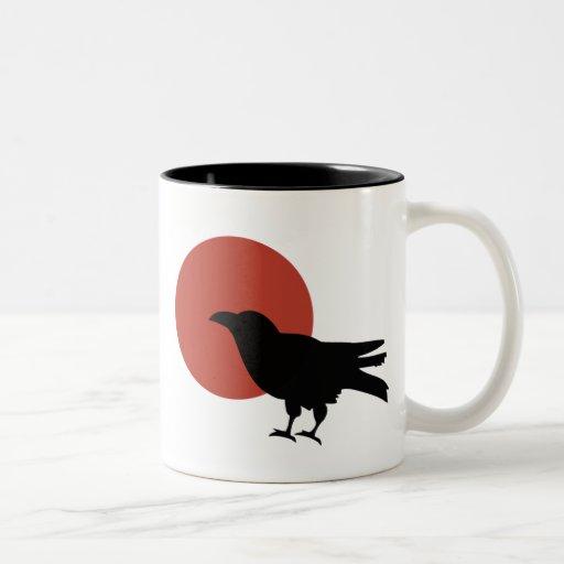 Luna del cuervo taza de dos tonos