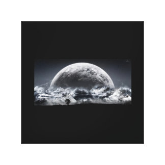 Luna del cúmulo impresión en tela