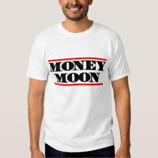 Luna del dinero - camiseta del blanco del muchacho playeras