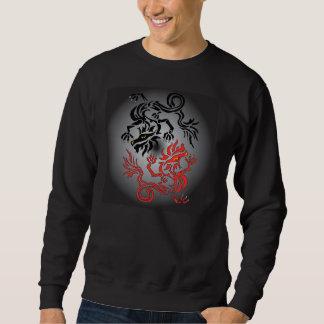 Luna del dragón de Yin/de Yang/resaca del Sudadera