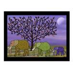 Luna del elefante tarjetas postales