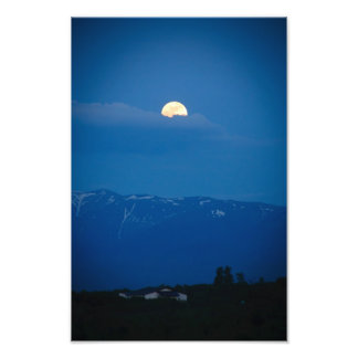 Luna del escondite arte fotografico