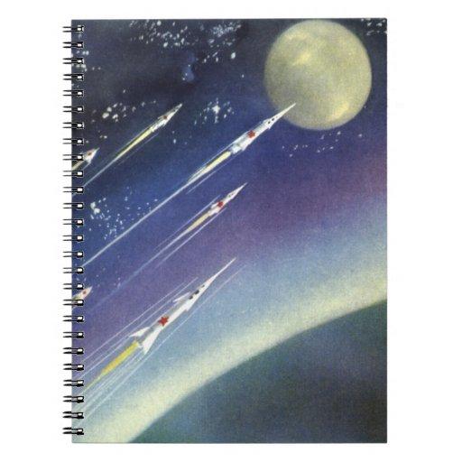 Luna del espacio exterior de Rockets de la ciencia Libro De Apuntes