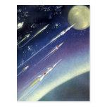 Luna del espacio exterior de Rockets de la ciencia Postal