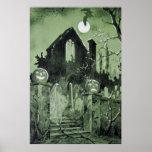 Luna del fantasma de la linterna de Jack O de la c Posters
