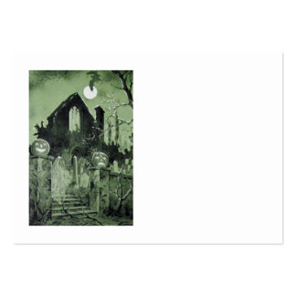 Luna del fantasma de la linterna de Jack O de la c Plantilla De Tarjeta De Visita