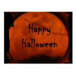 Luna del feliz Halloween Postal