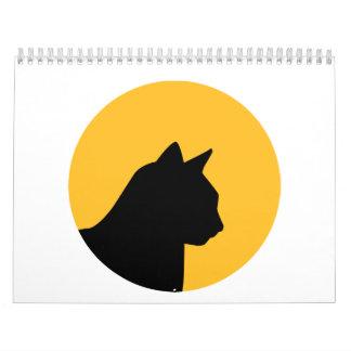 Luna del gato calendarios de pared