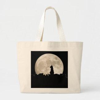 Luna del gato callejero bolsa