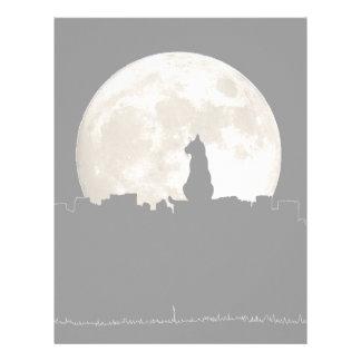 Luna del gato callejero membretes personalizados