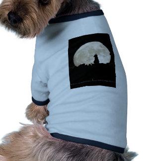 Luna del gato callejero camiseta de perro