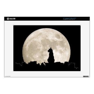 Luna del gato callejero portátil calcomanía