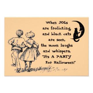 Luna del gato negro de JOLs de la invitación del f