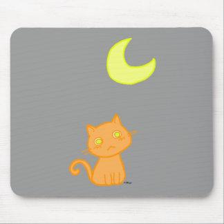 Luna del gato alfombrillas de ratón