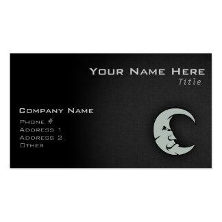Luna del gris de ceniza tarjetas de visita