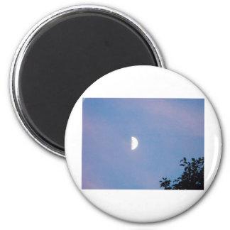 Luna del invierno imán redondo 5 cm