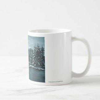 Luna del invierno taza clásica