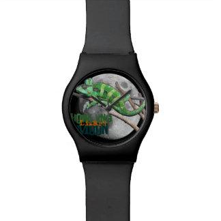 Luna del lagarto del grito reloj
