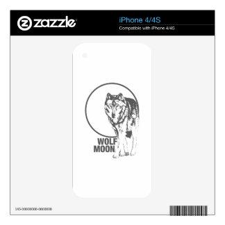 Luna del lobo - gritando iPhone 4 skins