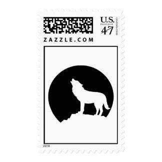Luna del lobo sello postal