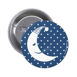 Luna del lunar pin redondo de 2 pulgadas