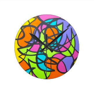 Luna del metro - reloj del arte abstracto