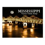 Luna del oro del puente de Mississippi Postal