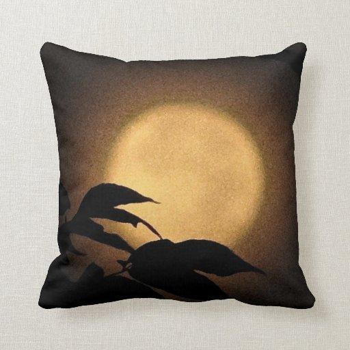 Luna del otoño cojín decorativo