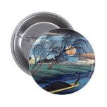 Luna del otoño en Seba, Hiroshige Pin Redondo De 2 Pulgadas