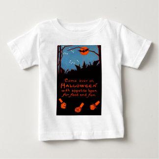 Luna del palo de la bruja de la calabaza de la camisetas