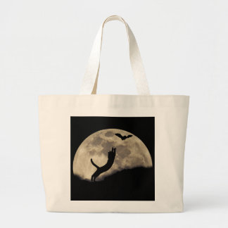 Luna del palo del gato bolsas