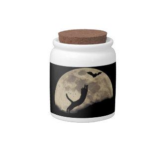 Luna del palo del gato plato para caramelo