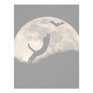 Luna del palo del gato plantillas de membrete