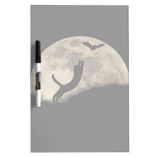 Luna del palo del gato pizarras blancas de calidad