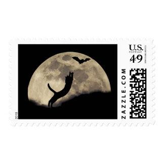 luna del palo del gato sello