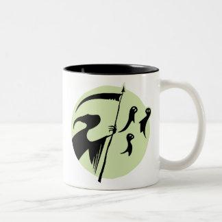 Luna del parca taza de café de dos colores