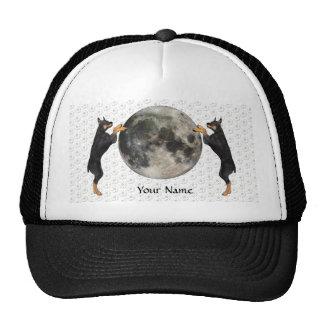 Luna del Pinscher del Doberman Gorros Bordados