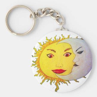luna del sol llavero personalizado