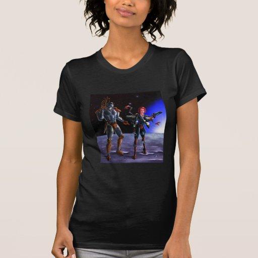 Luna del soldado (negro) camiseta