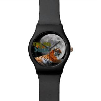 Luna del tigre del grito relojes de mano