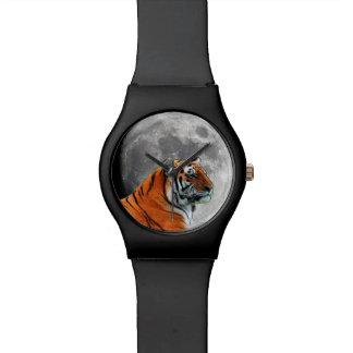 Luna del tigre relojes de pulsera