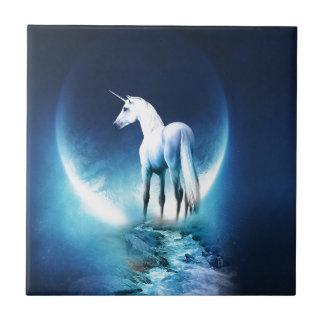 Luna del unicornio azulejo cerámica